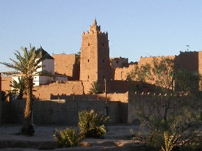 Sidi l'Houari mosque in Tinejdad, South Morocco.