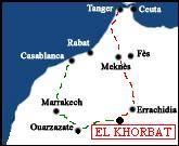 Morocco map to find El Khorbat.