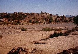View of the Ksar Akedim from the road of El Khorbat.