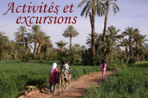 Excursions in Ferkla oasis, Todra gorges and Merzouga dunes.