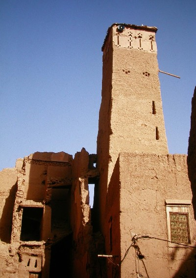 Asrir mosque in Ferkla oasis, Tinejdad, Morocco.