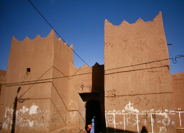 Ksar Gardemit gate in Tinejdad, South Morocco.