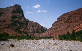 Amsad gorges in gheris valley, near goulmima, Morocco.
