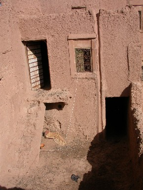 Terrace of a house in Ksar El Khorbat, near Tinghir, South Morocco.