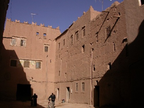 Square of Ksar El Khorbat near Tinghir in South Morocco.
