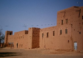 Ksar Ait Maamer in Ferkla oasis, Tinejdad, south Morocco.
