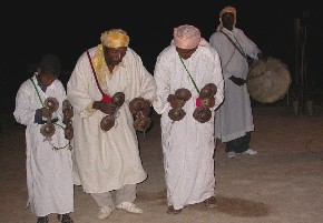 Gnaoua music and dance in Tinejdad, South Morocco.
