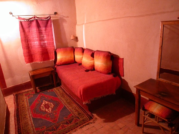 Room in guest house Ksar El Khorbat, near Tinghir in South Morocco.