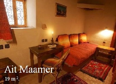 Ait Maamer room into the Ksar El Khorbat, near Tinghir,          south Morocco.