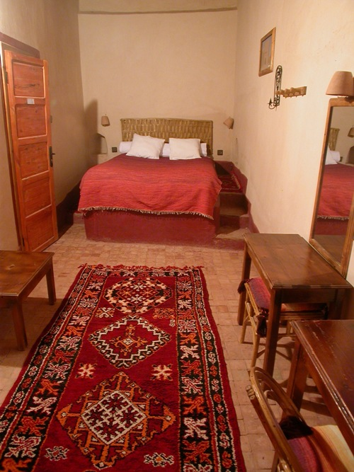 Ait Maamer room in guest house El Khorbat, south Morocco.