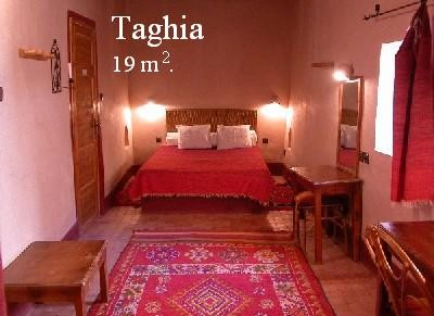 Taghia room into the Ksar El Khorbat, near Tinghir,          south Morocco.