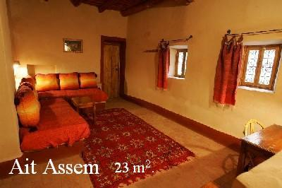 Ait Assem room into the Ksar El Khorbat, near Tinghir,  south Morocco.