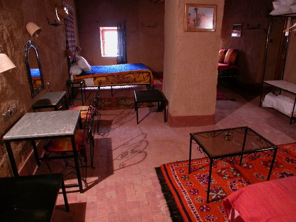 Room into Ksar El Khorbat, near Tinghir in South Morocco.