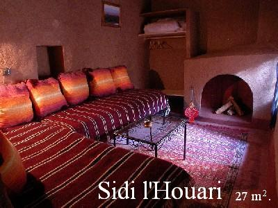 Sidi l'Houari room into the Ksar El Khorbat, near Tinghir,          south Morocco.