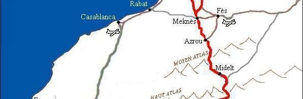 Morocco map to arrive to El Khorbat.