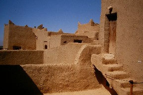 Oasis Museum of El Khorbat: earth house in south Morocco.