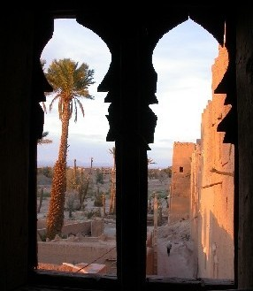 Oasis Museum of El Khorbat: traditional window in south Morocco.